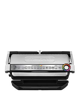 Tefal   Gc722D40 Optigrill+ Xl Grill, 9 Automatic Settings And Cooking Sensor - Stainless Steel