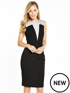 karen-millen-karen-millen-graphic-panelled-dress