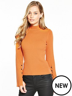 karen-millen-fluted-sleeve-knitted-jumper
