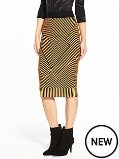 karen-millen-karen-millen-chevron-knit-collection-skirt