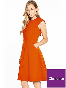 karen-millen-sculptured-tailored-dress-orange