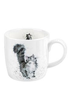 royal-worcester-wrendale-lady-of-the-house-cat-single-mug