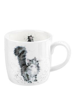 royal-worcester-wrendale-lady-of-the-house-cat-single-mug