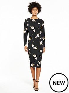 v-by-very-jersey-printed-midi-dress-floral-print