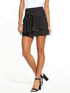 v-by-very-frill-ponte-skirt-black