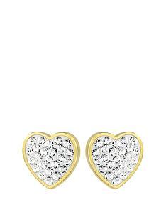 evoke-evoke-sterling-silver-gold-plated-amp-swarovski-elements-heart-stud-earrings