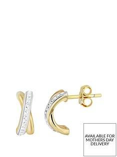 evoke-sterling-silver-gold-plated-amp-swarovski-elements-kiss-stud-earrings