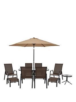 Very Versailles 11-Piece Outdoor Furniture Set - Brown Picture