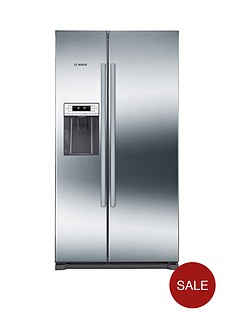 bosch-serienbsp6nbspkai90vi20g-american-stylenbsp90cmnbspnofrost-fridge-freezer-with-non-plumb-water-dispenser-graphite