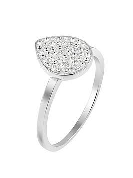 a744936a4 Evoke EVOKE Sterling Silver & Swarovski Elements Tear Drop Ring ...