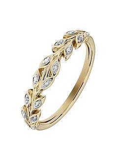 love-diamond-9ct-yellow-gold-diamond-set-leaf-ring