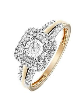 love-diamond-9ct-yellow-gold-30-points-white-diamond-square-double-halo-ring