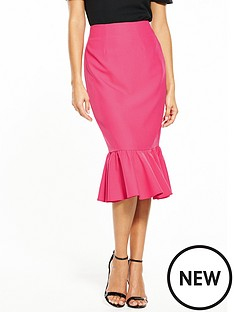 v-by-very-frill-hem-midi-skirt-pink