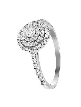 the-love-silver-collection-sterling-silver-cubic-zirconia-halo-cluster-ring