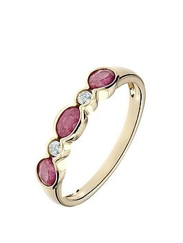 love-gem-9ct-yellow-gold-ruby-and-diamond-5-stone-ring