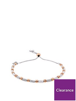 the-love-silver-collection-sterling-silver-amp-rose-gold-plated-diamond-cut-friendship-bracelet