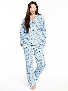 v-by-very-polka-dot-dog-flannel-pyjama