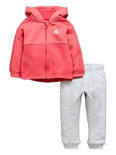 67605f1580017 adidas Adidas Baby Girl Fz Fleece Hooded Linear Suit