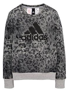 adidas-adidas-older-girl-linear-printed-sweat-top