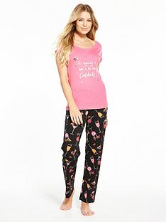 v-by-very-cocktails-round-neck-pj-set-pink