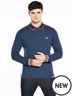 pretty-green-nomad-long-sleeve-polo