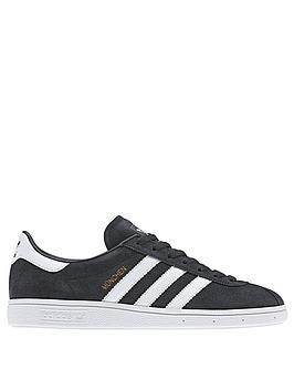 adidas-originals-munchen-leather-trainers--nbspdark-greywhite
