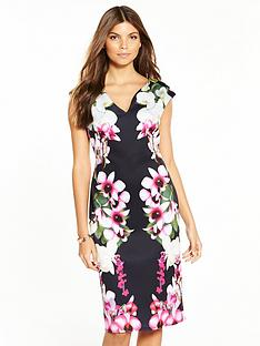 wallis-summer-orchid-scuba-dress