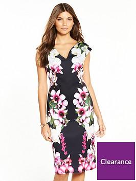 wallis-summer-orchid-scuba-dress