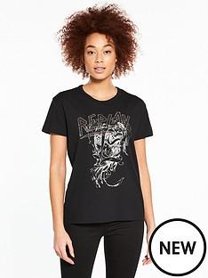 replay-studded-t-shirt