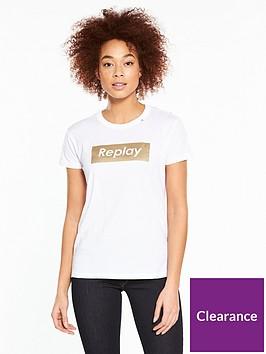 replay-metallic-logo-t-shirt-ndash-white