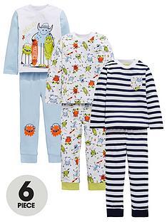 mini-v-by-very-boys-3-pack-monster-pyjamas