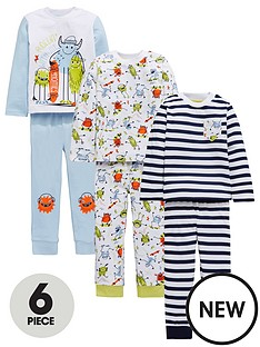 mini-v-by-very-boys-3-pack-monster-pyjamas