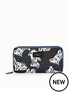 radley-folk-dog-large-zip-around-matinee-purse-black