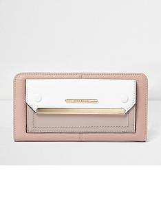 river-island-cream-zip-around-purse