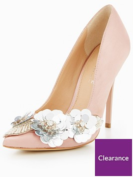 office-hot-stuff-embellished-court-shoes-pink