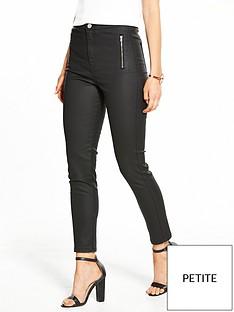 v-by-very-petite-high-waistednbspcoatednbspzip-skinny-jeans