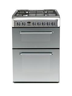 indesit-kdp60ses-60cm-widenbspdual-fuel-double-oven-cooker-gas-hob-with-fsd-stainless-steel