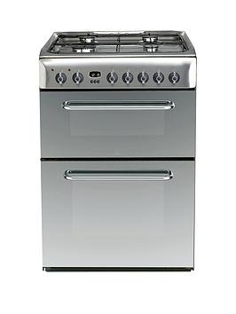 Indesit Indesit Kdp60Ses 60Cm Dual Fuel Double Oven Cooker, Gas Hob With  ... Picture