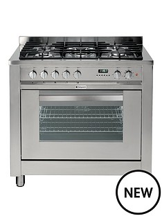 hotpoint-eg900xs-90cm-dual-fuel-cooker-gas-hob-with-fsd-stainless-steel