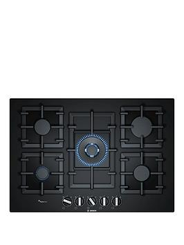 Bosch   Serie 6 Ppq7A6B90 60Cm Built-In Gas Hob With Flameselect - Black