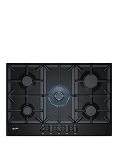 neff-t27ds59s0-75cm-built-in-gas-hob-black