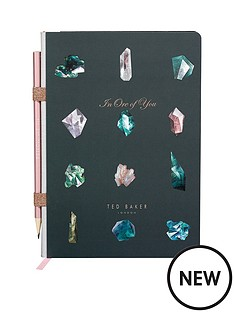 ted-baker-ted-baker-a5-notebook-amp-pencil-linear-gem