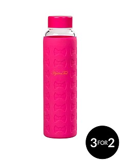 ted-baker-ted-baker-hot-pink-glass-water-bottle-with-silicon-sleeve