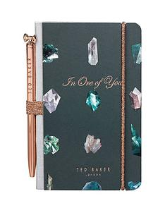 ted-baker-ted-baker-mini-notebook-amp-pen-set-linear-gem