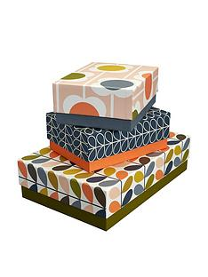 orla-kiely-orla-kiely-storage-box-set-of-3-flowersstem
