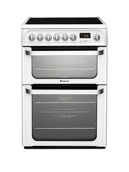 hotpoint-ultima-hue62ps-60cmnbspwidenbspdouble-oven-electric-cooker-with-ceramic-hob-white