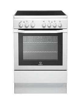 Indesit Indesit I6Vv2Aw 60Cm Electric Cooker With Ceramic Hob - White Picture