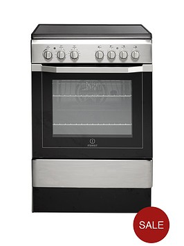 indesit-i6vv2ax-60cm-electric-cooker-with-ceramic-hob-stainless-steel