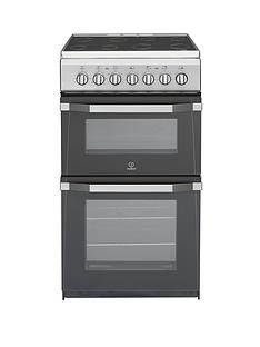 indesit-it50c1s-50cm-electric-cooker-with-ceramic-hob-silver