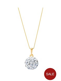 love-gold-9ctnbspgold-8mmnbspcrystal-glitterball-pendant-with-16-inch-chain
